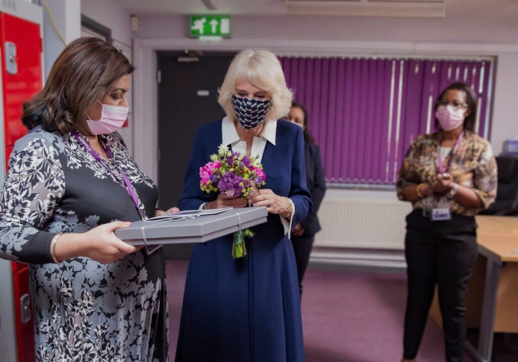 Duchess of Cornwall meets Panahghar staff